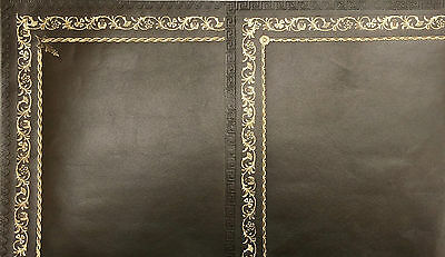 Leather Inserts For Writing Desks Bureau, With Gold Tooling, Antique Olive Green