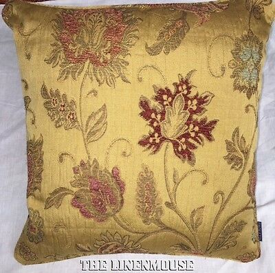 PAIR of  ANTIQUE GOLD TAPESTRY CUSHION COVERS 18x18 ins~45 cm  (2 will be sent)