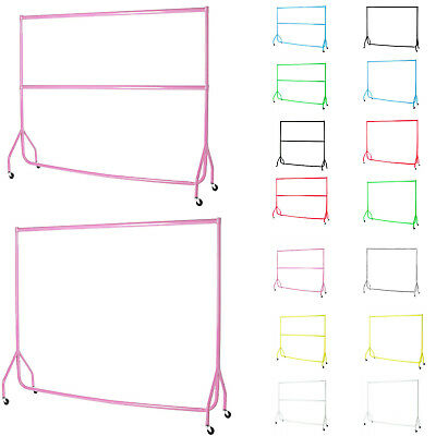 HEAVY DUTY COLORFUL CLOTHES RAILS GARMENT HOME SHOP STORAGE DISPLAY 4ft 5ft 6ft