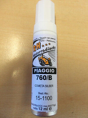 82,50€/100ml RH Lackstift Piaggio 760/B cometa silver
