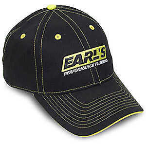 Earl's 11001 Earl's Hat Black Hat with Yellow Stitching, Brim, Button & Eyelets