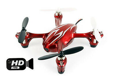 Hubsan X4 Quadcopter RTF with HD 2MP Camera Red/Silver