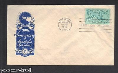1949 ANNAPOLIS, MARYLAND sc984 ICOR FDC Home of the United States Naval Academy