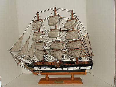 "USS Constitution, Wooden Model Ship about 17"" long!"
