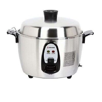 TATUNG 6 Cups Indirect Heating Stainless Steel Rice Cooker TAC-06KN New