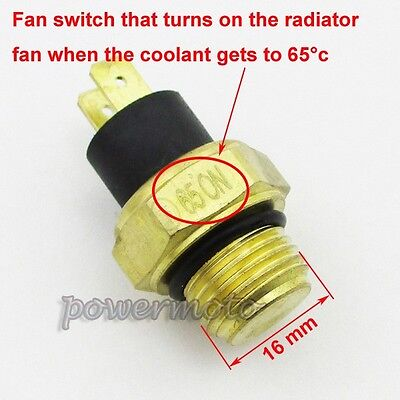 M16 Radiator Thermal Fan Switch For 250cc Water Cooled ATV Quad Scooter