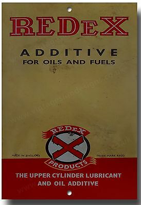 Redex  Additive For Oils And Fuels Metal Sign.vintage Motorcycle,garage Sign.