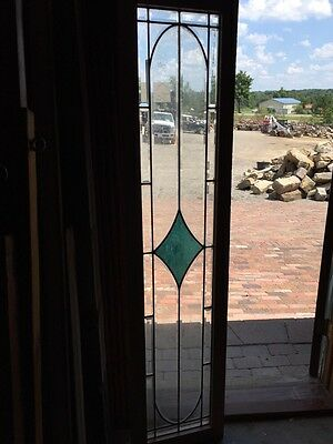 Sg 246 Antique Beveled Glass With Blue Center 16 X 68