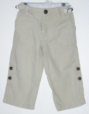 babyGAP Size 18-24 Months Unisex Beige Adjustable Waist Roll-up Jeans