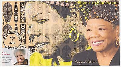 Jvc Cachets-2015 Maya Angelou Black Heritage Topical First Day Cover Fdc #2