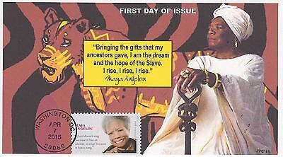 Jvc Cachets-2015 Maya Angelou Black Heritage Topical First Day Cover Fdc #3