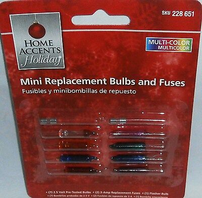 HOLIDAY MINI REPLACEMENT BULBS AND FUSES  Assorted Colored Bulbs