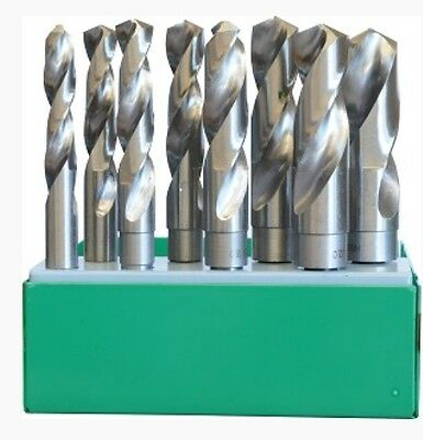 New Reduced Shank Drill Bits Set Hss M2 Af Imperial 8 Pc