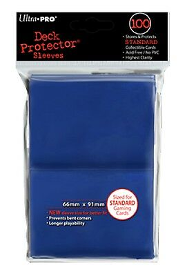 Ultra Pro Deck Protector Sleeves x100 - Blue - ideal for MTG, Pokemon etc