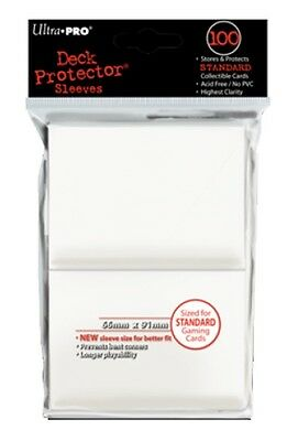 Ultra Pro Deck Protector Sleeves x100 - White - ideal for MTG, Pokemon etc