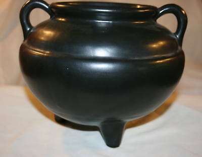 Robinson Ransbottom Pottery Roseville Ohio Black Pottery Beanpot  Large
