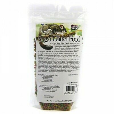 Pretty Pets Sugar Glider Food 12oz Direct from Manufacture Free Shipping