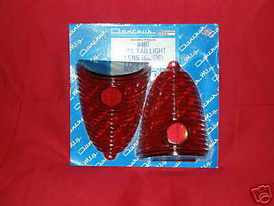 '55 1955 Chevy Belair Nomad Tail Light Lens Pair