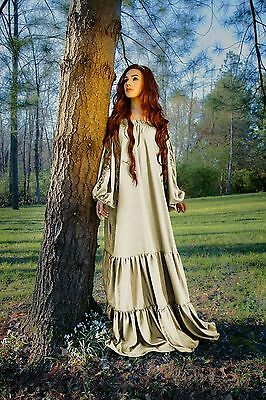 IDD Renaissance Medieval Costume The Gaelic Chemise Ruffled Neckline Lace up