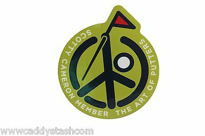 New Scotty Cameron Club Cameron 2015 Scotty Pin Flag Peaceman Decal Sticker Rare