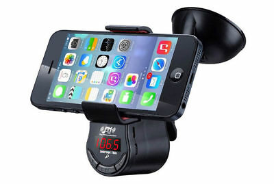 FM09 FM Transmitter Music/Calls Smart Phone Holder/Charger for iPhone/Android