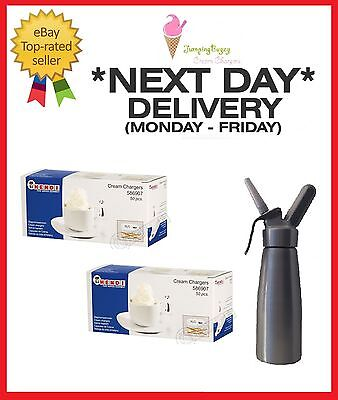 HENDI Cream Chargers Dispenser NOS N2O Nitrous Oxide cannisters -FREE DELIVERY
