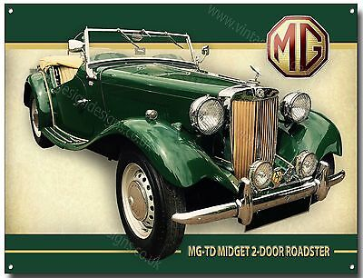 """MGA RED SPORTS CAR BRITISH,COLLECTABLE 12/""""X 8/"""" RETRO METAL SIGN 30X20cm MG"""