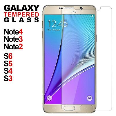 Tempered Glass Film Screen Protector Cover For Samsung Galaxy S3 4 5 6 Note 2 3