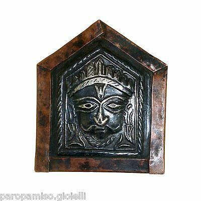"Antique Hindu Travel Altar ""Head of Shiva"" (Shiva Linga?)      (0788)"