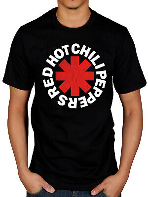 Official Red Hot Chili Peppers Distressed Asterisk T Shirt Rock Punk Tour Merch