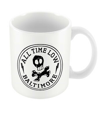 Official All Time Low Skull City Mug New Boxed Pop Punk Band Gift Coffee Tea