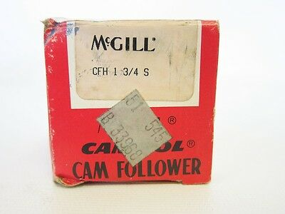 McGill CFH 1 3/4 S Camrol Cam Follower Standard Sealed Stud 3/4-16 Needle Roller