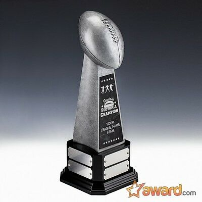 """Fantasy Football Trophy Perpetual -8 Years- 17.75""""- Free Engraving - Ships 1 Day"""