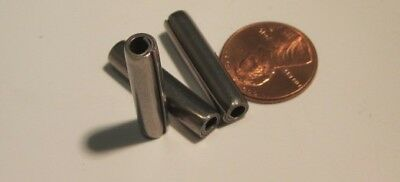 "420 Stainless Steel Coiled Spring Pin, 7/32"" Dia x 1"" Length, 20 pcs"