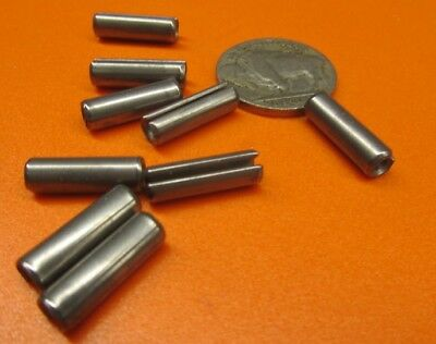 """420 S.S. Slotted Roll Spring Pin, 3/16"""" Dia x 5/8"""" Length, 100 pcs"""