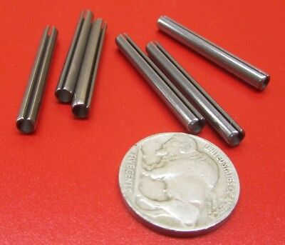"""420 S.S. Slotted Roll Spring Pin, 5/32"""" Dia x 1 3/8"""" Length, Pkg of 75 pcs"""
