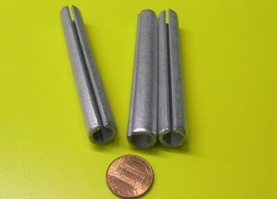 "Zinc Plate Slotted Roll Spring Pin, 1/2"" Dia x 3 3/4"" Length, Pkg of 10 pcs"
