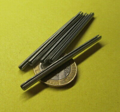 """Zinc Plate Steel, Slotted Roll Spring Pin, 1/8"""" Dia x 2 1/4"""" Length, 100 pcs"""