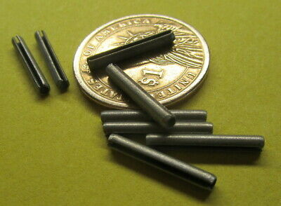 """Zinc Plate Steel Slotted Roll Spring Pin, 3/32"""" Dia x 11/16"""" Length, 250 pcs"""