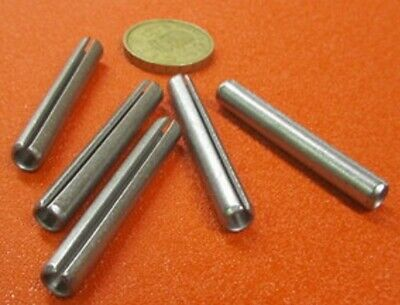 "420 Stainless Steel, Slotted Roll Spring Pin, 1/4"" Dia x 1 3/4"" Length, 20 pcs"