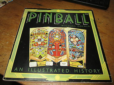 Vintage 1976 Pinball Illustrated History Michael Colmer