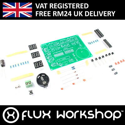 AT89C2051 6 Digit LED Clock DIY Kit Receiver Arduino Flux Workshop
