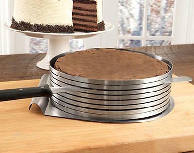 "Adjustable 6 Layer Cake Slicer Cutting Guide 6.29"" - 7.87"" inch High Quality 430"