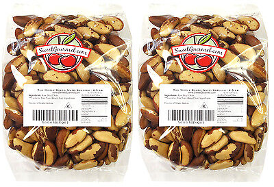 SweetGourmet Whole Raw BRAZIL Nuts (No Shell, Unsalted) - 5LB FREE SHIPPING!