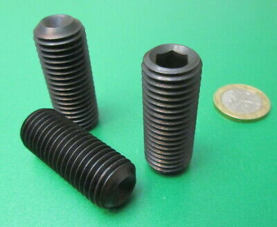 Metric Alloy Steel Set Screws Cup Point 5 Pieces M12 x 1.25 x 12mm Length