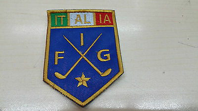Patch, ricami, federazioni sportive, Federazione Italiana Golf, FIG