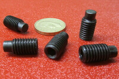 Extended Tip Alloy Steel Metric Set Screws M10 x 1.50 x 20mm Length 25 Pieces
