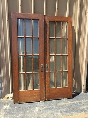 D209 One Pair Antique French Doors