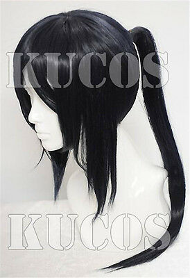 Yatogami Kuroh From K-project Cosplay Black Long Wig + Free Cap