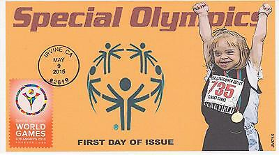 Jvc Cachets-2015 Special Olympics Issue First Day Cover Fdc Topical Sports #3